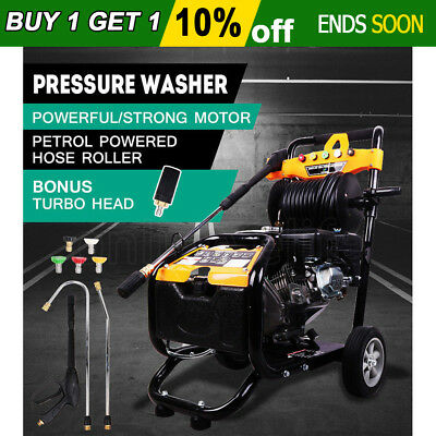 NEW High Pressure Washer Petrol Water Cleaner 10HP 4800PSI 30M Gurney Hose AU