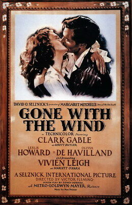 """004 Gone with the Wind - 1939 USA Classic Movie 14""""x21"""" Poster"""