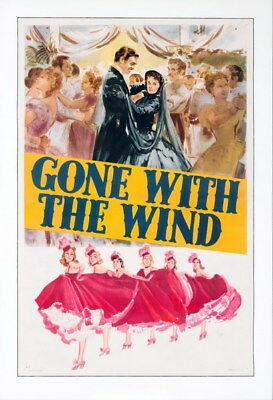 """010 Gone with the Wind - 1939 USA Classic Movie 14""""x20"""" Poster"""