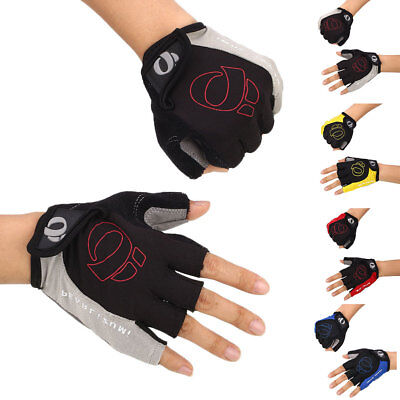 Antiskid Cycling Gloves Mountain Bike Motorcycle Sport Gel Half Finger Gloves AU