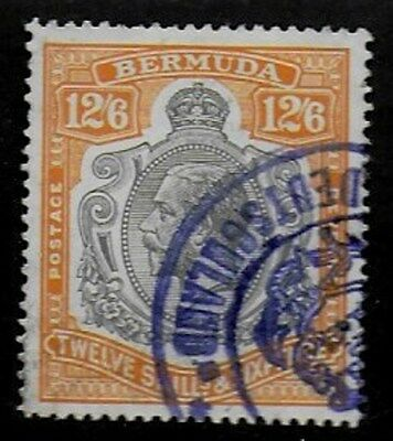 Bermuda 1925 KGV 12/6d Black and Orange fiscally used