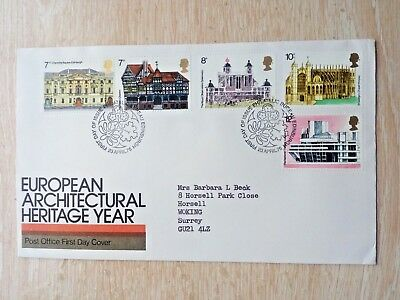 e.....GB..FIRST DAY COVER..EUROPEAN ARCHITECTURAL HERITAGE YEAR 1975