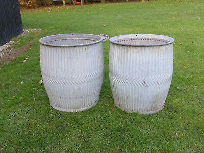 Pair Dolly/Peggy Tub-  Vintage Orig British not Repro Ideal For Xmas Trees!