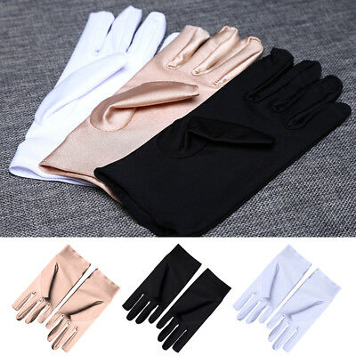 1Pair 3 Colours Coin Jewelry Silver Inspection Etiquette Driving Cotton Gloves