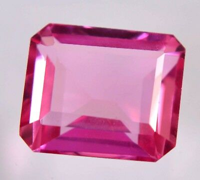 11.15 Ct Natural Ceylon Pink Sapphire Emerald Cut AGSL Certified Ring Use Gem