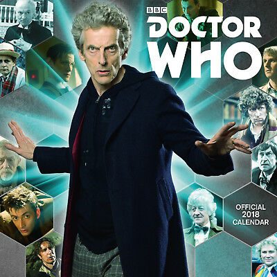 Doctor Who Classic Official 2018 Square Wall Calendar - BRAND NEW  (SKU 217)