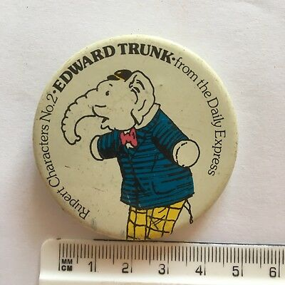 Daily Express Rupert Character No 2 Edward Trunk Pin Badge (see pics) Elephant
