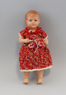 99810075 Antique Bruno schmidt-puppe Girl Celluloid Doll Old L 12 3/16in