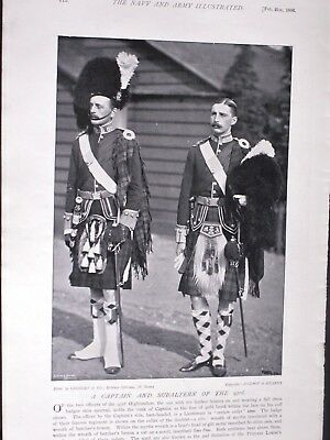 CAPTAIN & SUBALTERN OF THE 93rd HIGHLANDERS & Officers of 1st. Scots Guards.1896