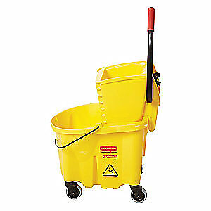 RUBBERMAID Mop Bucket and Wringer,Yellow, FG748000YEL, Yellow