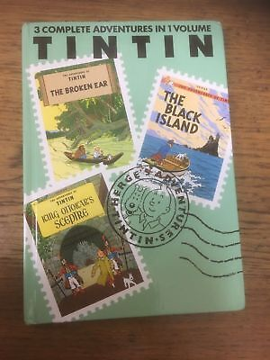 HERGE The Adventures Of TINTIN~  3 Complete Adventures In 1 Volume Bundle 5 Book