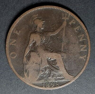 1895 - 1901 UK Widow Head Queen Victoria One Penny Coin - Choose Your Year!