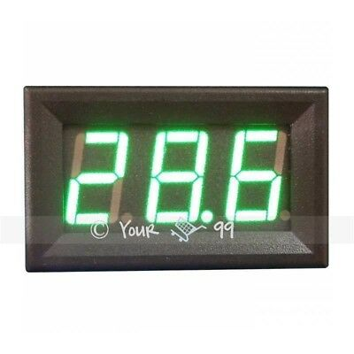 Mini GREEN LED DC Amp Current Meter Ammeter 0-50A UK SALE New