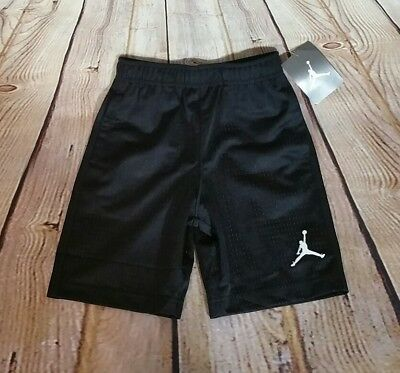 NWT- JORDAN JUMPMAN Youth boys Size 5 Black Mesh Athletic Shorts