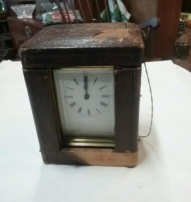 Antique Cased Carriage Clock In Good Working Order