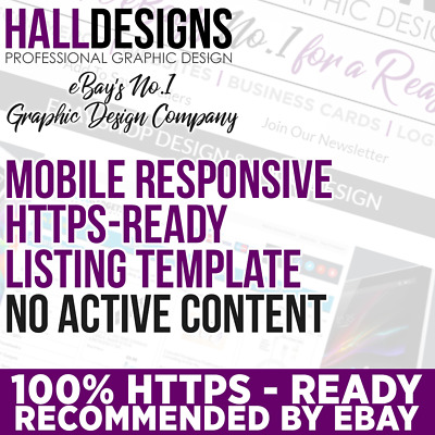Mobile Responsive and HTTPS Ready eBay Listing Template - Recommended by eBay