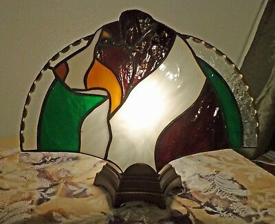 Stained Glass Dog - Fan Lamp - Australian Shepherd - Red Tri