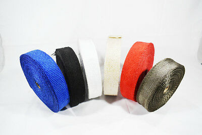 Exhaust Downpipe manifold Induction Insulating Heat Wrap Shield All colours