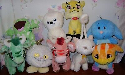 Neopets Dogelfox Angelpuss Kau Squiggle Plush Lot of 9