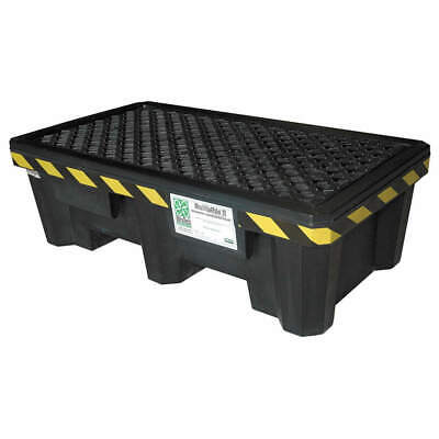 ULTRATECH Polyethylene Ultra-Spill Pallet P2-1500, With Drain, 2505, Black