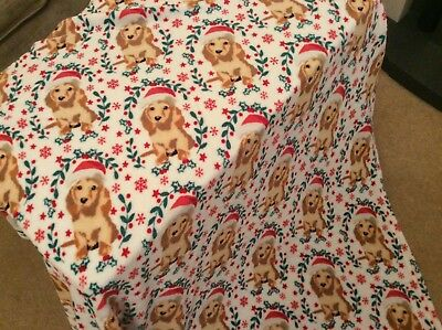 Cockapoo / Dachshund Christmas Dog Throw Tesco