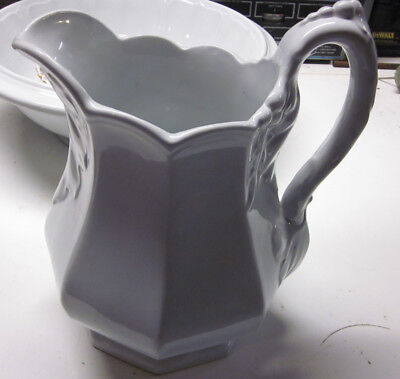 White Ironstone Pitcher Paris Shape 19th Century John Alcock