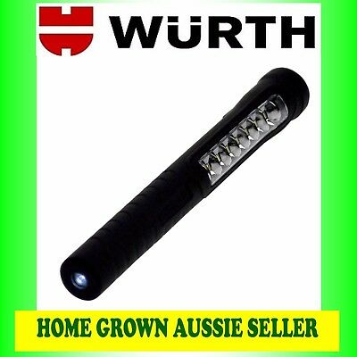 Wurth 7+1 Led Rechargeable Battery-Powered Penlight Free Post