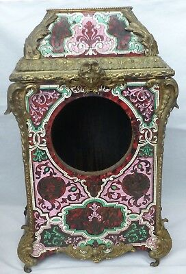RARE Large Antique French Boulle / Ormolu  'faux' Tortoiseshell Clock Case