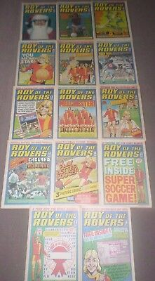 14 x ROY OF THE ROVERS from 1976 - COMPLETE SET