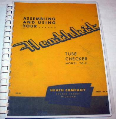 Heathkit Tube Tester Manual Set, Choose TC-1, TC-2, or TC-3. Complete w/ Charts