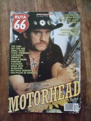 RUTA 66 Spanish Music  Magazine  N0. 124 Jan. 1997 - MOTORHEAD