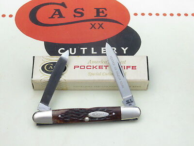 """Case XX USA 7 Dot 1973 06263 F SSP """"Eisenhower"""" Penknife SCARCE with File Blade"""