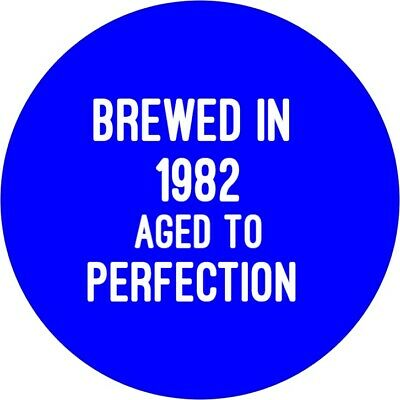 60th Birthday Badge Brewed in 1959 aged to....pin 50mm birthday gift BLACK