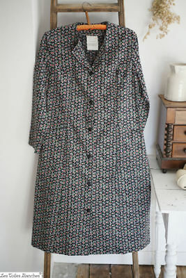 Vintage French Provence APRON dress WORK WEAR peasant c1950