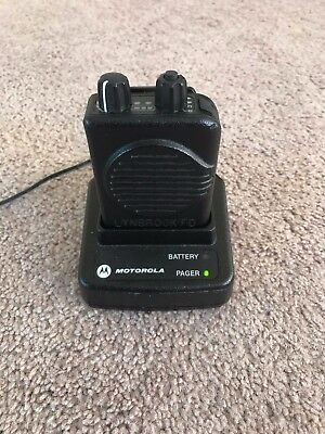 Motorola Minitor V Pager - VHF Low 45-48.995 MHz 2 CH Stored Voice & Charger