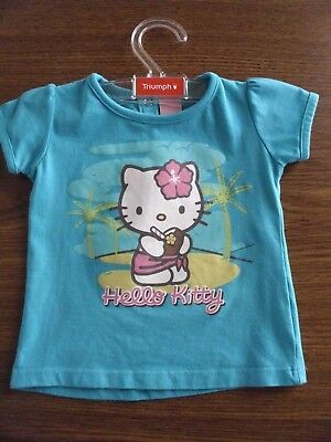 Hello Kitty Baby T-Shirt grün Print Gr.68