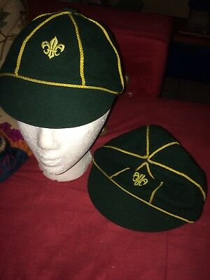 Vintage Wolf Scout Hat Green size 6 7/8 through 7 Canadian