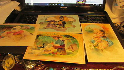 4 vintage Lion coffee picture cards very nice
