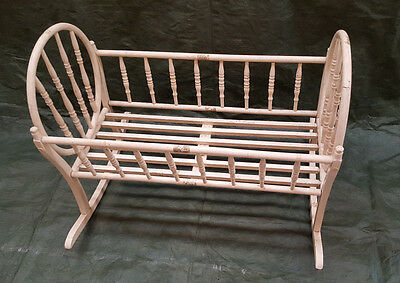 """Antique (late 1800's) Bentwood cradle 40"""" long  x 31"""" wide x 30"""" high"""