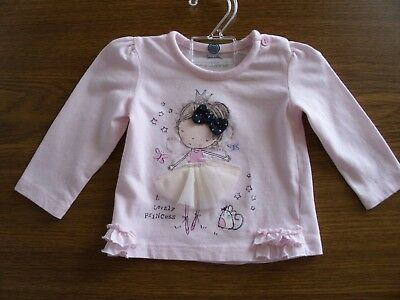 early days LA-Shirt rosa Princess Print Tüll Schleife Rüschen 3,4kg England