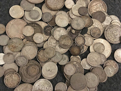 Large Group Lot of Silver World Coins