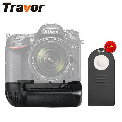 Infrared Remote + Vertical Battery Grip Replace as MB-D15 for Nikon D7100 D7200