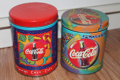Coca Cola Collectible Small Round Tins, Set of 2