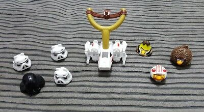 Angry Birds Star Wars Telepods & Catapult - Lot of 8