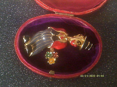 Unusual Vintage Enamel Large Clown Brooch, Very Detailed,lovely Condition
