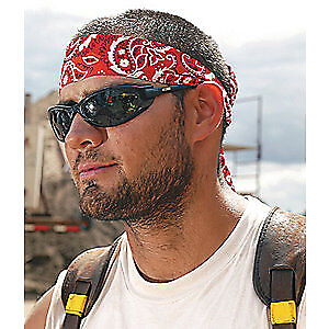 CHILL-ITS BY ERGODYNE Acrylic Polymer Cooling Bandana,Universal,Red, 6700, Red