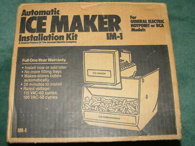 NIB IM-1 AUTOMATIC Ice Maker Installation Kit for Hotpoint GE or RCA Models
