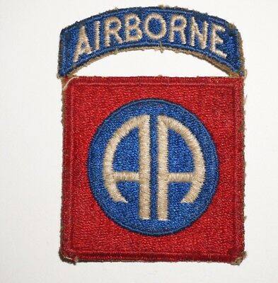 82nd Airborne Division Attached Tab Patch WWII US Army P5290