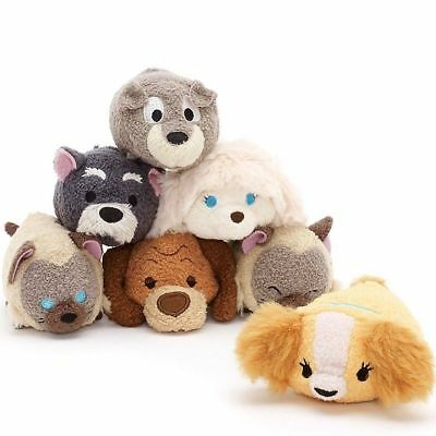 US Disney Store Lady and the Tramp Mini Tsum Tsum Complete Set of 7! NWT!!