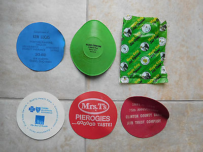 Set of 6 Collectible Advertising Jar/Bottle Lid Grips